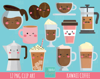 50% SALE COFFE clipart, commercial use, kawaii clipart, Latte, mug, cute
