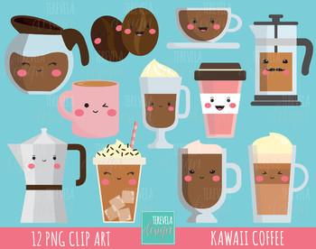 50% SALE COFFEE clipart, commercial use, kawaii clipart, Latte, mug, cute