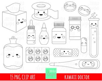 50% SALE DOCTOR stamp, medicine, digi stamp, commercial use, coloring book