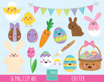 50% SALE EASTER clipart, easter rabbit clipart, easter egg clipar, EASTER BUNNY