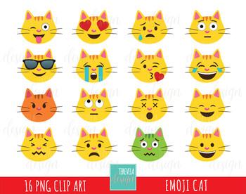50% SALE Emoji cat clipart, emoticons clipart