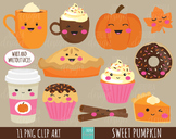 50% SALE FALL clipart, autumn clipart, sweet treats clipar