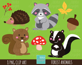 50% SALE FOREST ANIMALS clipart, woodland graphics, commercial use, fall clipart