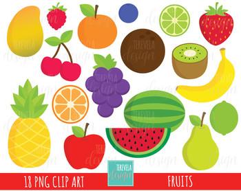 50% SALE FRUIT clipart, commercial use, cute clipart