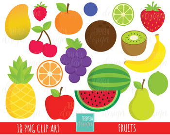 50% SALE FRUITS clipart, commercial use, cute clipart