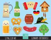 50% SALE GERMANY clipart, octoberfest clipart, kawaii clipart, cute