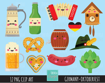 50% SALE GERMANY clipart, octoberfest clipart, kawaii clipart, cute