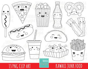 50% SALE JUNK FOOD stamp, digi stamp, kawaii digi stamp, food stamps