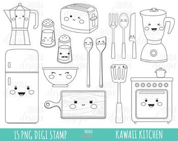 50% SALE KITCHEN clipart, kitchen tools clipart, DIGITAL STAMP, BLACK LINE