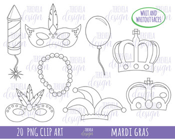 50% SALE Mardi gras stamp, CARNIVAL images, mask, black and white