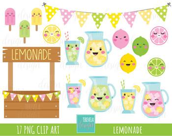 50% SALE LEMONADE clipart, summer clipart, kawaii lemon ...
