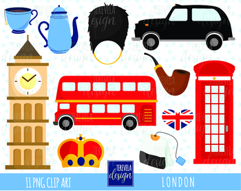 50% SALE LONDON clip art, uk graphics, BIG BEN, CROWN