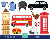 50% SALE LONDON clip art, KAWAII LONDON, uk graphics