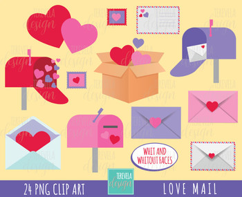50% SALE LOVE MAIL clipart, kawaii clipart, valentine's day clipart