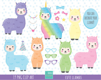 50% SALE Llamas clipart, alpaca clipart, llama clipart, lama clipart, accesories