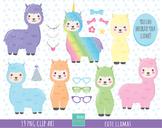 50% SALE Llamas clipart, alpaca clipart, llama clipart, la