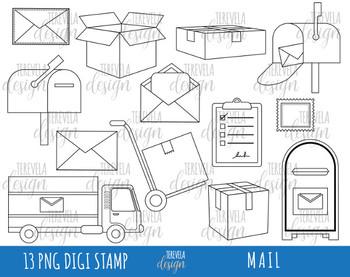 50% SALE MAIL digi stamp, post office stamps, digi stamp, happy mail