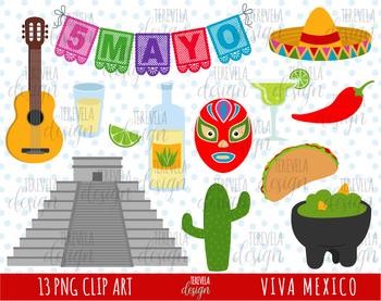 50% SALE MEXICOclip art, 5 de MAYO CLIPART, PYRAMID, MEXICAN FOOD,  TACOS