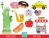 50% SALE NEW york clip art, kawaii clip art, statue of liberty, NY