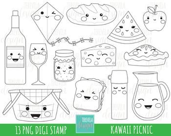 50% SALE PICNIC digital stamps, picnic digi stamps, food clipart