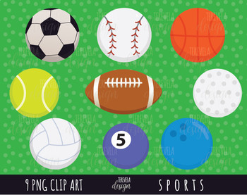 50% SALE SPORTS clipart, sports balls clipart,  football, soccer, baseball