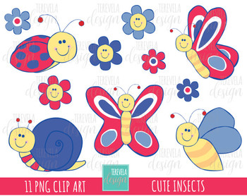 50% SALE SPRING clipart, INSECTS, BUGS, FLOWERS