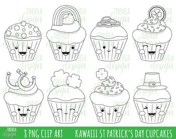 50% SALE ST PATRICK'S cupcakes stamp, st patrick's day