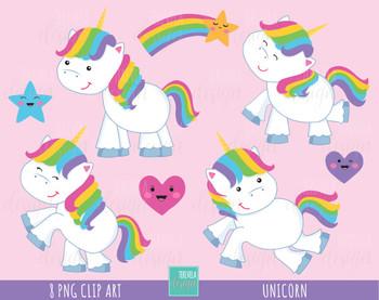 50% SALE UNICORN clipart, kawaii clipart, unicorn graphics