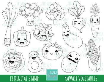 50% SALE VEGTABLES stamp,  kawaii stamp, BLACK AND WHITE