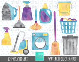 50% SALE WATERCOLOR CLEANING clipart,  clean up graphics
