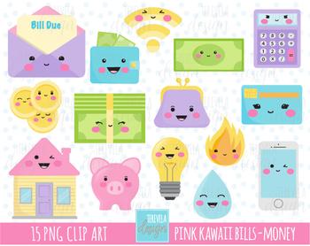 50% SALE bills graphics, money clipart, piggy bank graphic, cute