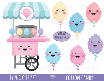 50% SALE cotton candy clipart, cotton candy images, candy clipart