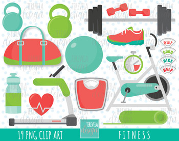 50% SALE fitness clipart, excercise graphics, sport clipart