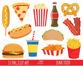50% SALE junk food clipart, fast food clipart, HAMBURGER, HOT DOG