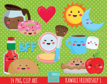 50% SALE kawaii friendship clipart, valentine graphics, love, friends graphics
