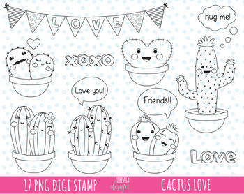 50% SALE love clipart, CACTUS clipart, valentine's day clipart