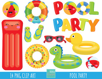 50 sale pool party clipart summer clipart pool graphics by rh teacherspayteachers com pool party clip art free printable pool party clip art free printable