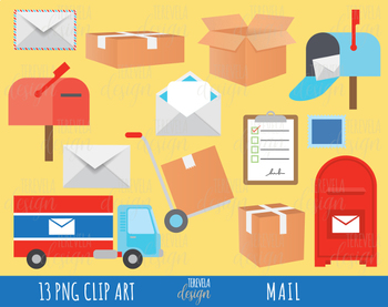 50% SALE post office clipart, MAIL clipart, happy mail clipart, delivery clipart