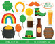 50% SALE st patrick's day clipart, kawaii clipart,  IRISH clipart