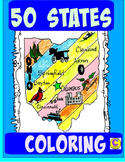 50 STATES BUNDLE COLORING MAPS