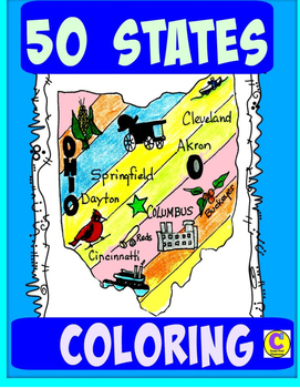 50 STATES BUNDLE COLORING MAPS