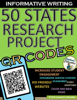 50 STATES RESEARCH PROJECT QR CODES