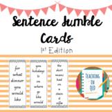 50 Sentence Jumble Cards- 1st Edition