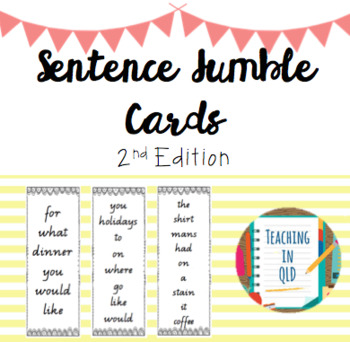 50 Sentence Jumble Cards 2nd Edition