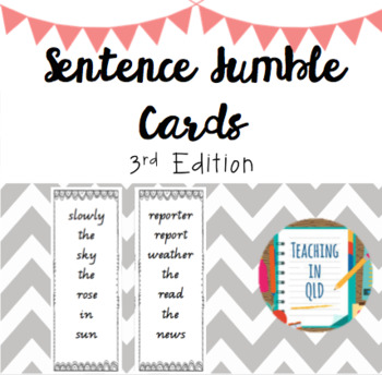 50 Sentence Jumble Cards- 3rd Edition