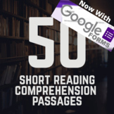 50 Short Reading Comprehension Passages