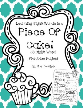 50 Sight Word Practice Pages