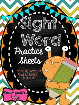 50 Sight Word Practice Sheets