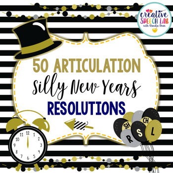 50 Articulation Silly New Year's Resolutions