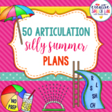 50 Silly Articulation Summer Plans
